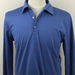 Banana Republic Button Up Long sleeve Blue Polo XL